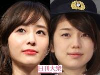 (左から)田中みな実、弘中綾香アナウンサー