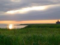 歯舞群島の一つ、水晶島にあるロシア正教会の教会堂(「Wikipedia」より)