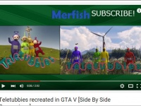 YouTube「Teletubbies recreated in GTA V」より。