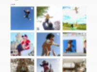 Instagramで「#高い高い」と検索すると、多くの投稿が見られる。