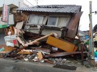 熊本地震で被害を受けた益城町の様子