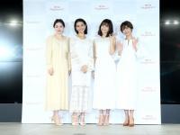 左から藤井明子、稲沢朋子、優木まおみ、石田一帆