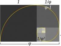 黄金長方形と対数螺旋 画像は「Wikipedia」より引用