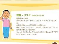 アニメ『サザエさん』公式サイトより。