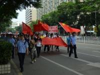 尖閣諸島領有権を主張する中国人による対日抗議デモ(2012年 恵州市)(C)Shutterstock