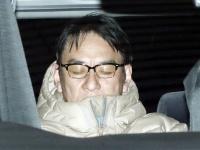 移送されるピエール瀧容疑者(写真:日刊現代/アフロ)