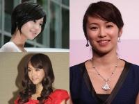 左上:堀北真希、左下:桐谷美玲、右:内山理名