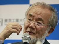 ノーベル医学生理学賞を受賞した大隅良典・東京工業大栄誉教授(AP/アフロ)