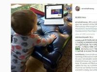アン・ハサウェイの息子ジョナサン・ローズ・バンクス・シュルマン君(c) Instagram