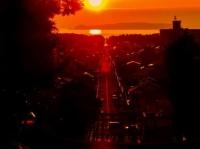 光の道 夕陽の祭(宮地嶽神社ウェブサイト