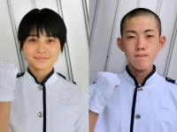 吉浦亜海さん(左)と、竹井一輝さん