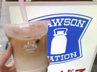 ローソンのアイスティー+黒糖タピオカ