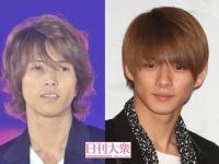 (左より)山下智久、平野紫耀(King&Prince)