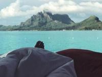 ハル・ベリー、ボラボラ島にて (c) instagram