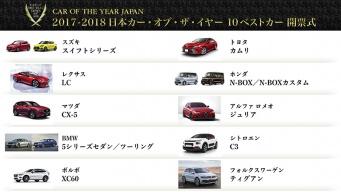 今年の大賞はどのクルマ? 日本カー・オブ・ザ・イヤー2017-2018最新情報