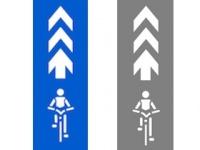 自転車の走行レーン示した通称「自転車ナビマーク」