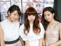 ゲストの3人。左から、西園みすず(さんみゅ〜)、橘はるか(Ange☆Reve)、新原聖生(さんみゅ~)