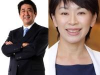 (左)安倍晋三公式サイトより、(右)山尾志桜里公式サイトより