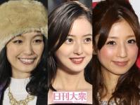 (左から)木下優樹菜、佐々木希、小倉優子