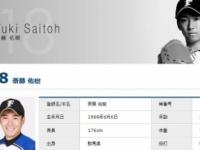 北海道日本ハムファイターズの斎藤佑樹投手「北海道日本ハムファイターズ HP」より