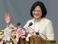 台湾、蔡英文総統が就任。8年ぶり民進党政権(写真:AP/アフロ)