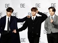 ※BTSのV、ジン、Jung Kook (向かって左から)。写真:ロイター/アフロ