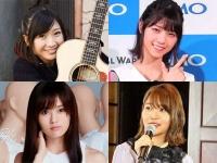 左上:有安杏果(公式サイトより)、右上:西野七瀬、 左下:山本彩(公式サイトより)、右下:指原莉乃