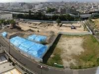 森友学園校舎建設基礎工事(16年、木村真豊中市議撮影)