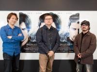 左から、カプコン・小林裕幸氏(原作監修)、辻本貴則監督、清水崇エグゼクティブ・プロデューサー