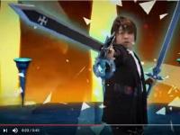 「バンダイナムコ」Youtube公式チャンネル「『ソードアート・オンライン -メモリー・デフラグ-』 CM 松岡禎丞さん出演バージョン 30秒」より。