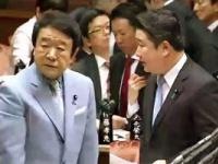 左・青山繁晴議員/右・和田政宗議員(参議院インターネット中継より)