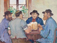ジャック・フランソワ『Peasants Enjoying Beer at Pub in Fribourg』 画像は「Wikipedia」より