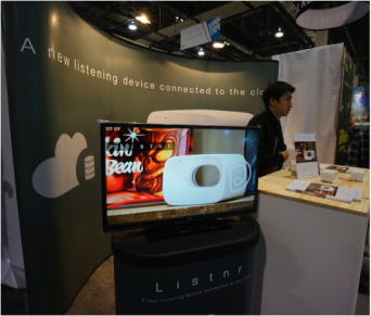 「Listnr」が展示されていたCerevo社の出展ブース