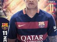 「FC BARCELONA FCバルセロナ 15-16 オフィシャル ポスター ネイマール SP1299(29)」