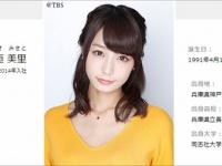 TBSアナウンサーオフィシャルサイト「アナウンスBoo!!」より