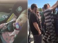 車上荒らしのテクニックが役に立った。囚人たちがドアロックされた車から赤子を5分もかからずに助け出す(アメリカ)