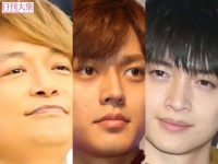 香取慎吾(新しい地図)、永瀬廉(King&Prince)、玉森裕太(Kis-My-Ft2)