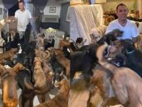 ハリケーンから守るため、約400匹の動物たちを自宅に保護した男性(メキシコ)