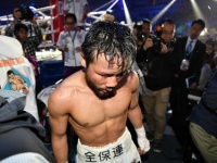 WBC世界フライ級タイトルマッチに敗れた比嘉大吾選手(写真:山口裕朗/アフロ)
