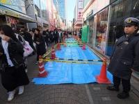 原宿・竹下通りで暴走男 2019年幕開け直後(写真:AFP/アフロ)