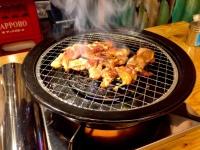 あみ焼きジンギスカン「悟大」のラムロース定食