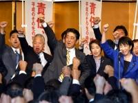 自民党総裁選挙の安倍晋三選挙対策本部発足式の様子(写真:Natsuki Sakai/アフロ)