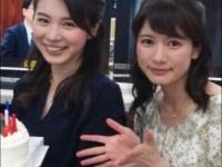 ※イメージ画像:TBS『NEWS23』公式Twitter(左・皆川玲奈、右・宇内梨沙)より