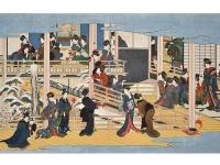 喜多川歌麿「深川の雪」(「Wikipedia」より)