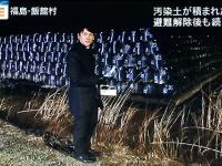 福島県飯舘村から生中継を行った富川悠太アナ(テレビ朝日『報道ステーション』16年3月9日放送回より)
