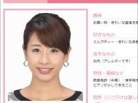 ※フジテレビ・女性アナウンサープロフィール「加藤綾子」公式サイトより