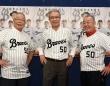 球団提供/左から加藤秀司氏、山田久志氏、福本豊氏
