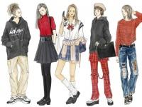 イラストで見る。「90年代ファッション」とは