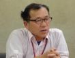 10月26日厚生労働省で会見する松永義郎さん