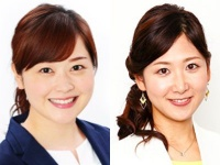 左:水卜麻美(日本テレビ「アナウンスルーム」より) 右:桑子真帆アナ(「NHKアナウンス室」より)